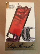 Luigi Bormioli Strauss Set of Four 13.5 ounces oz Blown Crystal Beverage Glasses