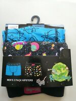RICK AND MORTY MENS 2 PACK HIPSTERS BOXERS SIZE L 36-39'' NEW GIFT DIFUZED