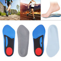 2 Pairs Orthotic shoe Insoles Arch Support Plantar Fasciitis Feet Back Heel Pain