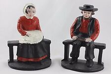CAST IRON AMISH MAN & WOMAN BOOKENDS