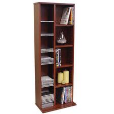 HUDSON Media CD DVD Storage Shelves MAHOGANY MS0011