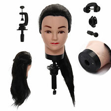 60cm Hairdresser Training Head Dummy Model Hairdressing Styling Training Black