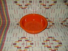 """RADIOACTIVE RED""  FIESTA 8 1/2"" NAPPY - FIESTAWARE     -                  f2"