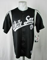 Chicago White Sox Men's M-XL Button-Up Embroidered Jersey Dynasty MLB Black