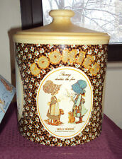 HOLLY HOBBIE & FRIENDS VINTAGE COOKIE JAR TIN BY CHEINCO (SUNBONNET Kids)