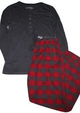 PJ Salvage NWT Women's S Pajamas -  Modal Knit Henley Top w/ Plaid Flannel Pants