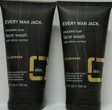 2X Every Man Jack Volcanic Clay Face Wash, Oil Defense, Fragrance Free, 5-ounce