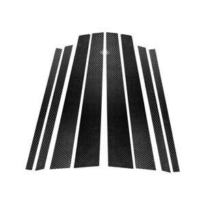 8Pcs Carbon Fiber Window B Pillars Cover Decor Fit For BMW X5 X5M E70 2007-2013