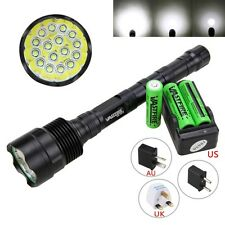 60000LM 16x XML T6 LED Flashlight 5Modes 18650 Tactical Camping Torch Lamp Light