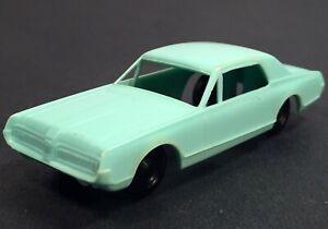 "F&F Mold & Die Works 1967 ""MERCURY COUGER PLASTIC CAR"" Cereal Premium TEAL XLNT."