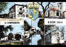 SAINT-SYMPHORIEN-d'OZON (38) HOTEL DU CENTRE , VILLAS , BLASON & EGLISE en 1963