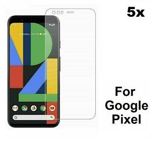 5 x Plastic Screen Protector Guard Saver For Google Pixel 4 4XL 3A 3A XL 4a 5g