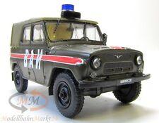 UAS-469 WAI Militär Geländewagen grün/rot UdSSR/Russland Scale 1:43 - OVP