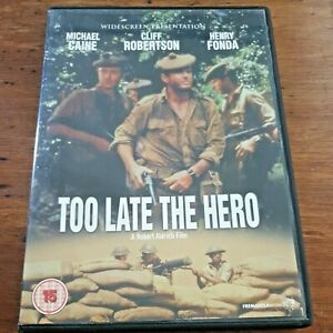 Too Late the Hero DVD Michael Caine R2 VERY GOOD – FREE POST