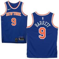 """R.J. Barrett NY Knicks Signed Nike Blue Swingman Jersey & """"Maple Mamba"""" Insc"""