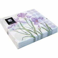 80 x Lilac Iris 3 Ply Paper Napkins 33cm x 33cm Party Serviettes Tableware Cater