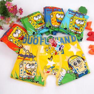 10 PCS Cartoon SpongeBob Children Underwear Cotton Panties Boxer Brief Boy Kids