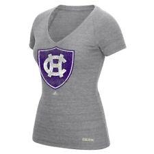 Holy Cross Crusaders NCAA Adidas Women's Full Color Primary Logo Grey T-Shirt