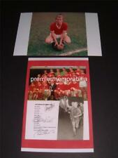 MANCHESTER UNITED FC 1968 GEORGE BEST BOBBY CHARLTON BRIAN KIDD SIGNED REPRINT