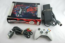 Microsoft Xbox 360 White Complete Working Console Transformers Skin Bundle