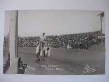 RPPC  COWBOY CORBET  ROMAN  RACE LET ER BUCK PENDLETON OR ROUND UP INDIAN #9