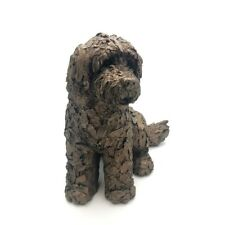 More details for frith sculptures lucy cockapoo cold cast bronze dog figurine ornament at036