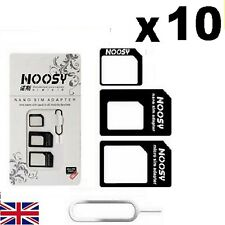 10x Nano SIM Card to MICRO Standard SIM Adapter converter SET For iPhone Samsung