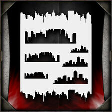 Skylines 1 Airbrush Stencil Template Airsick