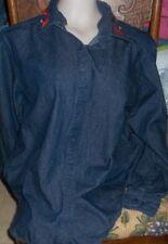 Avon Style Pretty Blue Denim Shirt with Fall AccentS*** L