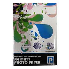 A4 Matt Photo Paper - 200gsm Matt - 9 Sheets, Size 297mm x 210mm - by Pennine