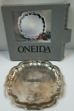Oneida Chippendale 10'' Round Tray Silverplated