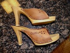 VTG 70s/80s CANDIES Stiletto/Slides High heels shoes  Sz 9 MADE IN ITALY Disco