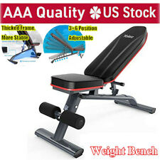 Folding Adjustable Utility Bench Weight Bench Home Gym Fitness Workout Exercise