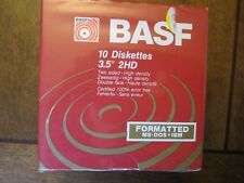 "NEW BASF 2HD 10 2 Sided Floppy Disk 3.5"" High Density Diskettes"