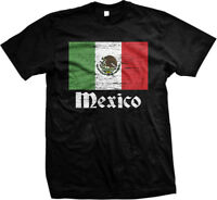 Distressed Mexico Country Flag - Mexican Pride  Mens T-shirt