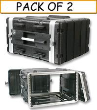 "(2-PACK) 555-15630 6U Rack Flight Case 19"" Stackable ABS Amp Effects Processor"