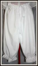 BLOOMERS CIVIL WAR RENAISSANCE WHITE BLOOMERS ANY SIZE