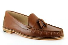 Topman Lenny Mens UK 10 EU 10 Brown Leather Tassel Loafers Moccasin Shoes