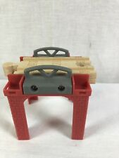 Square Stackable Red Brick Riser Train Track Support Thomas Brio Wooden Railway