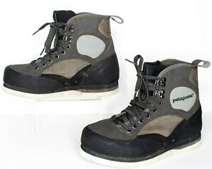 PATAGONIA Men's Wading Fishing BOOTS Felt Sole Fly Fishing Gray Size 8 | AC