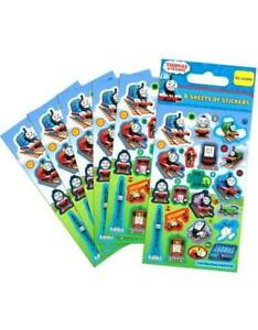 THOMAS AND FRIENDS Party Stickers (6 Sheets) - Loot Bag Fillers
