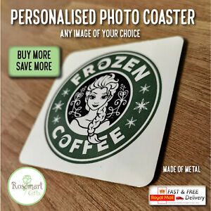 Personalised Photo coasters ideal for adding your image logo brand text coaster