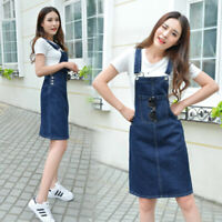 Summer Women Casual Loose Denim Suspender Overall Strap Jumpsuit Dress PartyNew