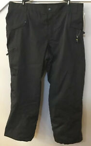 NEW NWT C9 Champion Men's Black Zip Pockets Mid Rise Fully Lined Snow Pants XXL