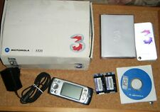 faulty Motorola A920 mobile phone in box with contents