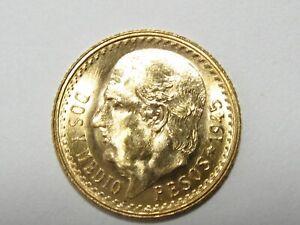 1945 Mexico 2 1/2 Pesos Gold Coin - .0603 Ounce AGW - #6375
