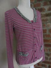 Codecodecode Designer 12 Top Pink and Grey Long Sleeve  Shaped buttons Stretch