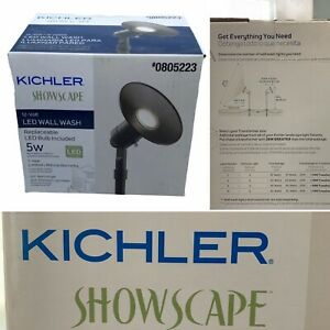 Kichler landscape lighting Showscape # 0805223 12-volt Led Wall Wash Lighting 5w