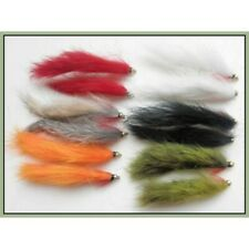 Gold Head Zonker Trout Flies, 12 Pack, Mixed Size 8/10, Zonkers Fishing flies