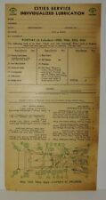 "1929 1930 1931 1932 PONTIAC (6 CYL.)  ""CITIES SERVICE""  LUBRICATION RECORD"